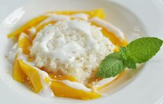 Thai mango with coconut sticky rice. One of my favorite Thai dishes!