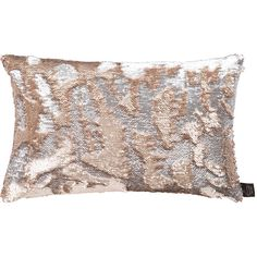 Aviva Stanoff Two Tone Mermaid Sequin Cushion - Citrine - 30x45cm ($78) ❤ liked on Polyvore featuring home, home decor, throw pillows, metallic, handmade home decor, patterned throw pillows, sequin throw pillow, mermaid home decor and metallic throw pillows