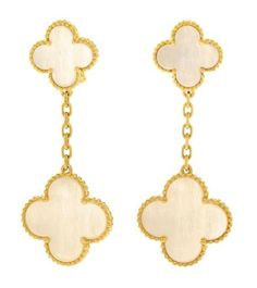Mother-of-Pearl alhambra dangles
