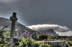 A eerie feeling crosses this graveyard as clouds swoop in over the mountain Multiple Exposure, Dynamic Range, Hdr, Crosses, Niagara Falls, Shots, Mountain, Clouds, World
