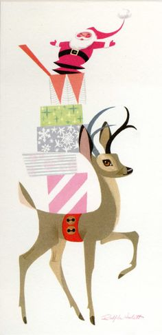 Little Helper | Illustrator: Ralph Hulett I want this in a huge canvas for annual Christmas decor!
