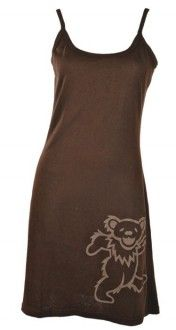 HempCotton Spaghetti Dress with Dancing Bear Print