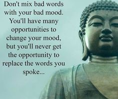 Don't mix your bad mood with your bad words