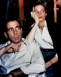 Humphrey Bogart and Lauren Bacall on-set of Key Largo