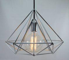 Himmeli Light Diamond Pendant Cage Geometric Silver door panselinos, $135.00