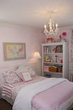 Little Girl's pink bedroom - color is Dunn Edwards - Just Pink Enough (cut by 25%)