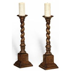Jonathan Charles Oyster candlesticks