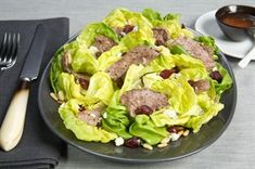 Sirloin steak meets dried cherries, blue cheese and walnuts in a salad that's big on flavor.