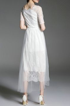 Discover designer dresses for women online with DEZZAL, shop the lastest fashion from huge selection of high quality sexy dresses and cute dresses. - Page 5 Tulle Dress, Dress P, Fashion Sale, Fashion Online, Sexy Dresses, Cute Dresses, Designer Dresses, Lace Skirt, White Dress
