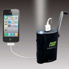 Hand powered energy for your phones! Great for camping!