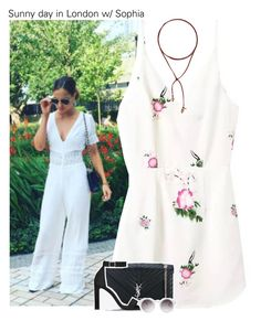 """""""Sunny day in London w/ Sophia"""" by amberamelia-123 ❤ liked on Polyvore featuring Vanessa Mooney, Yves Saint Laurent and Monki"""