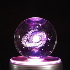 Galaxy LED crystal ball - Galaxy LED crystal ball – MainStreet Unique Items Galaxy LED crystal ball – MainStreet Unique I - Crystal Ball, Clear Crystal, Aesthetic Rooms, Bedroom Themes, Glass Ball, Dream Rooms, My Room, Snow Globes, Decoration