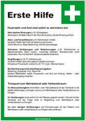 Vorlage Erste-Hilfe-Tafel | Schilder-Hinweis bei formularbox.de
