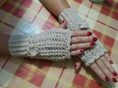 ♡ mitones a crochet