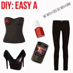 Adictaaloscomplementos: Easy A Halloween Costume. All you need is the red wig.