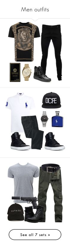 """""""Men outfits"""" by mrsaguirre ❤ liked on Polyvore featuring Vivienne Westwood Anglomania, Giuseppe Zanotti, Versus, Michael Kors, Versace, men's fashion, menswear, Polo Ralph Lauren, TravelSmith and Supra"""