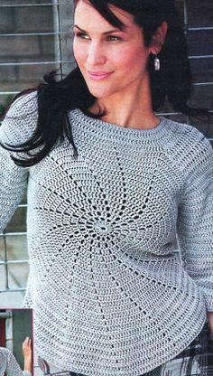 crochet starburst sweater. The site is russian, but there are diagrams.
