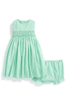 Luli+&+Me+Smocked+Dress+&+Bloomers+(Baby+Girls)+available+at+#Nordstrom