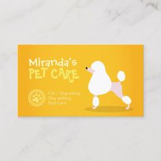 Shop Pet Care Sitting Bathing and Grooming Beauty Salon Appointment Card created by ReadyCardCard. Dog Grooming Business, Pet Grooming, Dog Walking Flyer, Pet Food Shop, Pet Clinic, Animal Clinic, Referral Cards, Standard Business Card Size, Business Card Design