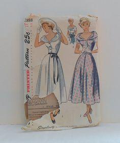 Women's One Piece Dress Size 14 Vintage 1940's by filecutter, $7.75