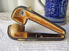 Vintage Meerschaum Pipe Hand Carved Lattice by cynthiasattic, $85.00