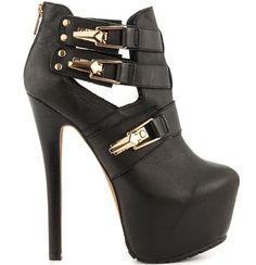 Sylvia - Black LT ZiGi Girl #black #higheels #fashion #shoes #heels #accessories #clothes