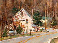 "Tyson Village Store Like you I reckon… I know what I know. But for everything else… Google. ""Today, Tyson is largely a summer settlement located at the south end of Echo Lake."" This affectionate subject offered an attractive compositional possibility. And if I hope to paint every town in Vermont before I'm done, Tyson was on the list."