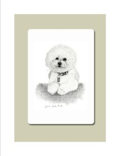 Bichon Frise Specialty Mouse Pad from Original by jennietruitt