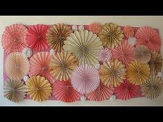Roseta de papel - Paper Fan - Rosettes - YouTube