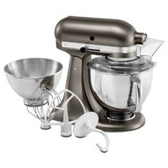 Shop for KitchenAid Architect Series Cocoa Silver Tilt-Head Stand Mixer. Get free delivery On EVERYTHING* Overstock - Your Online Kitchen & Dining Shop! Artisan Mixer, Kitchenaid Artisan, Kitchenaid Stand Mixer, Artisan Kitchen, Small Kitchen Appliances, Kitchen Aid Mixer, Kitchen Gadgets, Kitchen Stuff, Kitchen Sink