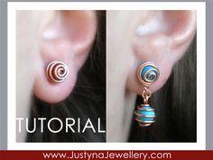 Wire Jewelry Tutorial Stud Earrings Tutorial by JustynaJewellery