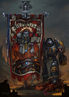 Warhammer banners comission. TUMBLR USERS! If you'd like to post it, please repost from me:irinasunradio.tumblr.com/post/… Thank you!