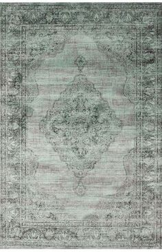 """Rugs USA Beaumont Vintage Aubusson Spruce Blue Rug - 5'3""""x7'6"""" - $160 right now"""
