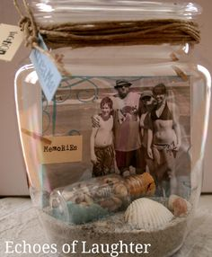 Echoes of Laughter: 4 Amazing Photo Gift ideas... Love this photo memory jar!