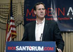 Photo #1 #prezpix #prezpixrs   election 2012  candidate: Rick Santorum  publication: Los Angeles Times LA Times  photographer: Bill Pugliano Getty Images  publication date: 2/25/12