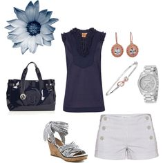 love navy blue and white- Untitled #52, created by dbm1970 on Polyvore