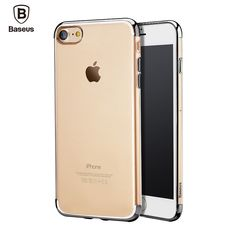 Sale 18% (6.99$) - Baseus Plating Arc-edge Ultra-thin Transparent Soft TPU Case for iPhone 7 Plus 5.5 Inch