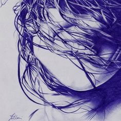 Ballpoint pen artist Matteo Felloni (Italian: 1976 - ) | (2012) #pen #pens #ballpoint #ballpointpen #penart #art #drawing Biro Art, Biro Drawing, Sun Ken Rock, Ink Pen Art, Ballpoint Pen Drawing, Pen Illustration, Sketches Of People, Examples Of Art, Drawing Projects