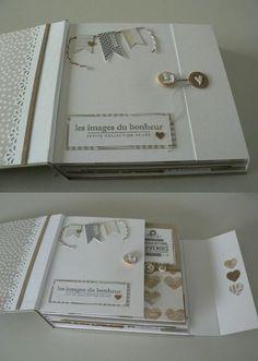 Photo Album One Year Anniversary Photo Album Inserts For 3 Ring Binder Album Photo Scrapbooking, Mini Albums Scrapbook, Scrapbook Paper, Mini Album Tutorial, Album Book, Handmade Books, Wedding Album, Smash Book, Bookbinding