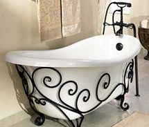 St Thomas Creations: New Orleans Tub. I love this. Its my all time favorite tub and Its got metal work and swirls.
