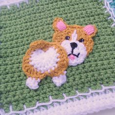 Jenna Wingate Designs: Patchwork Puppy Project - The Puppy Patches- Paid Granny Square Crochet Pattern, Crochet Flower Patterns, Crochet Stitches Patterns, Crochet Squares, Crochet Motif, Crochet Flowers, Knit Crochet, Quilt Patterns, Granny Square Häkelanleitung