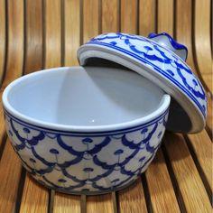 Keramik Suppenschale mit Deckel 13x13x12,5cm