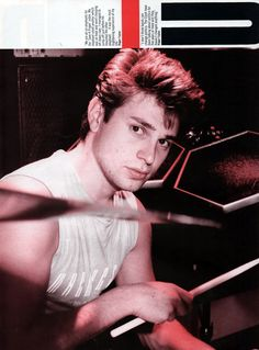 The adorable Roger Taylor of Duran Duran. Always my favorite drummer