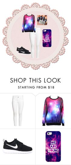 """""""Galaxy Style"""" by urqveen123 ❤ liked on Polyvore featuring beauty, H&M, NIKE, JINsoon and Casetify"""