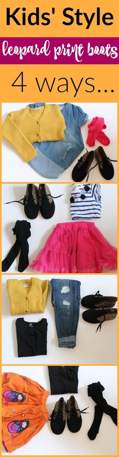 Kids' style: one pair of boots, 4 ways - Mother's Always Right Kids Boots, Desert Boots, Ripped Skinny Jeans, Clarks, Kids Fashion, Pairs, Children, Cute, How To Wear