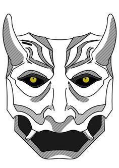 Japanese mask - Vectorized - Leo Galenski
