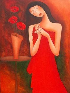 Anita Burnaz ~ Evening with Poppies