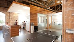 Sweet Leaf Tea in Austin, Texas, enjoys a massive open space with a ping pong table and full bar. In fact, the space is so big that they offer after-hours yoga classes.
