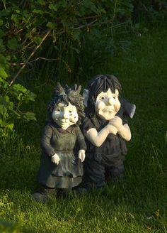 goth garden gnomes. so need these for goth garden