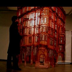 Jannick deslauriers fragile sculpture fabric and thread